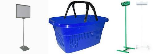 Постсервіс: кошики для супермаркетів, цінники та стійки для пакетів, профіль ПВХ