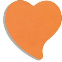 Блок бумаги для записей с клейким слоем «сердце» (BM.2362-99)