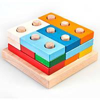 Пирамидка «Цветные плашки - большая», ТАТО