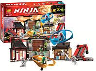 """Конструктор Bela Ninja 10527 (аналог Lego Ninjago 70590) """"Боевая площадка для аэроджитцу"""" 686 деталей"""