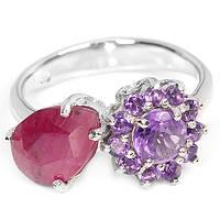 Кольцо серебряное 925 с натуральн. камнями р16.51
