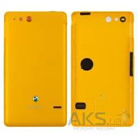 Задняя часть корпуса (крышка аккумулятора) Sony ST27i Xperia Go Original Yellow