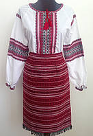 Костюм жіночий в українському стилі сорочка  і плахта