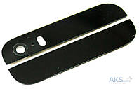 Задняя крышка корпуса Apple iPhone 5S верхняя + нижняя Black