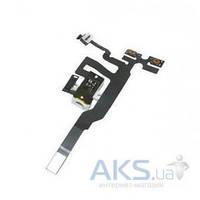 Шлейф для Apple iPhone 4S с кнопками регулировки громкости и разъемом гарнитуры Original White