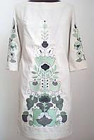 Жіноче плаття  плаття вишите гладдю сірий льон