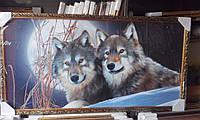 Картина волки 350х750 мм