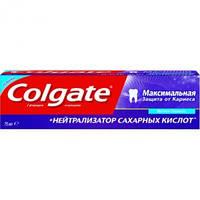 Зубная паста Colgate Макс. защита от кариеса + Нейтрализация сах. кислот 75 мл