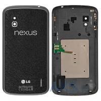 Задняя часть корпуса (крышка аккумулятора) LG E960 Nexus 4 Original Black