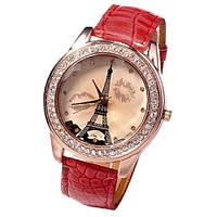 Часы женские Paris (красные)