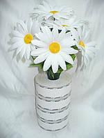 Ромашка цветная, 4расцветки,40 см (200 шт в уп)
