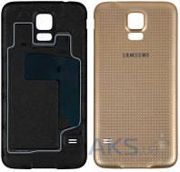 Задняя часть корпуса (крышка аккумулятора) Samsung SM-G900F Galaxy S5 / SM-G900H Galaxy S5 Original Gold