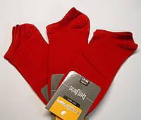 Короткие мужские летние носки красного цвета