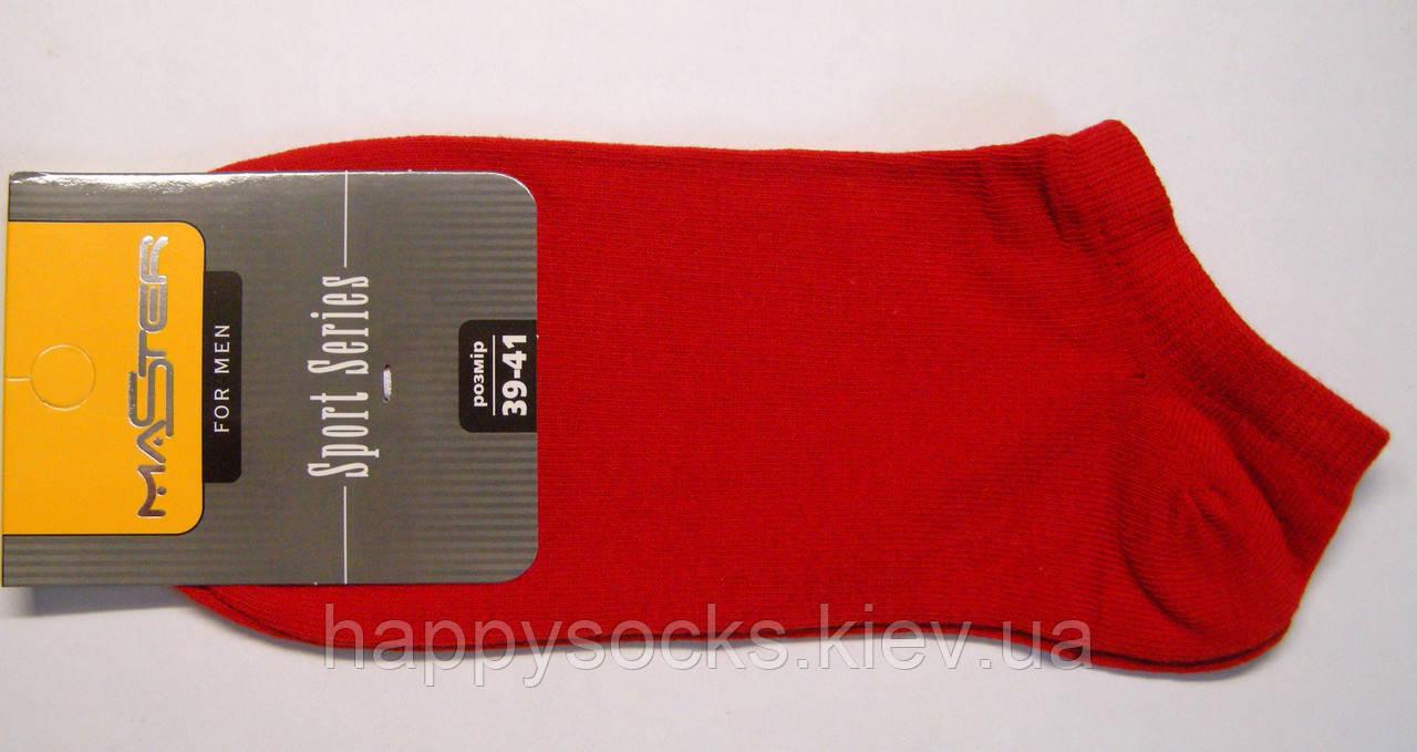 Мужские носки низкие красного цвета