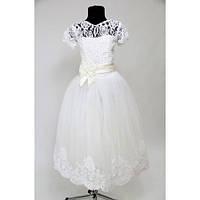 Платье Выпускное Валерия бархат HarMedp-008bBel (7-9 лет)