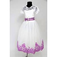 Платье детское праздничное Валерия бархат (7-9 лет)