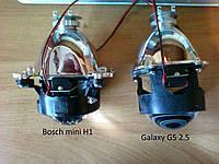 Биксеноновые линзы Bosch mini G5 H1 с масками