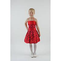 Нарядное платье красное СК HM-2258 (4-7 лет)