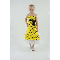 Нарядное платье желтое СК HM-2243 (6-9 лет)