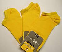 Короткие летние носки для мужчин желтого цвета