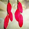 Сережки індіанські (червоні)