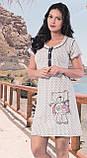 Сорочка нічна на гудзиках жіноча, фото 2