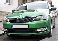Накладка под передний бампер Skoda Rapid 2012-