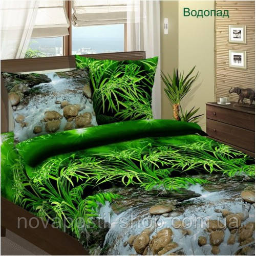 Ткань для постельного белья, бязь хлопок Водопад