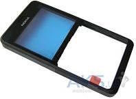 Передняя панель корпуса (рамка дисплея) Nokia Asha 210 Black