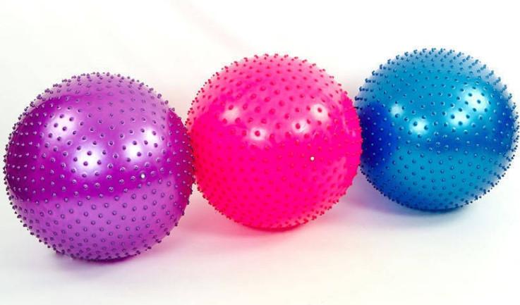 Мяч для фитнеса с шипами FI-1987-65 (d=65 см). Распродажа!