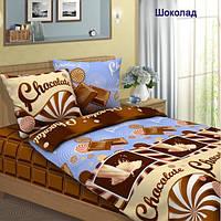 Ткань для постельного белья, бязь хлопок Шоколад