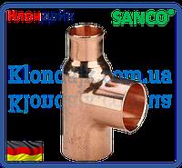 SANCO Тройник медный переходной 28-22-28