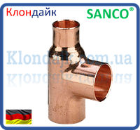 SANCO Тройник медный переходной 35-28-15