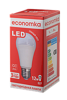 Светодиодная лампа ECONOMKA, 12W, 2800K, тёплого свечения, цоколь - Е27, 3 года гарантии!!!