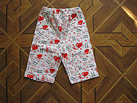 Детские летние  шорты для девочек 4 года Турция