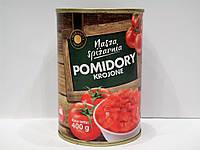 Томаты Nasza Spizarnia нарезанные в томатном соку 400г, фото 1