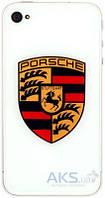 Задняя часть корпуса (крышка аккумулятора) Apple iPhone 4 Porsche White