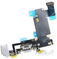 Шлейф для Apple iPhone 6S Plus с разъемом зарядки и гарнитуры Original Grey