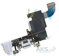 Шлейф для Apple iPhone 6S с разъемом зарядки и гарнитуры Original Gray