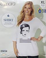 Реглан футболка туника женская большой размер XL 48 50 esmara