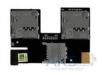 Шлейф для HTC Desire 500 Dual с коннектором SIM-карты и карты памяти Original