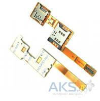 Шлейф для Sony Ericsson Xperia X10 mini с коннектором SIM-карты Original