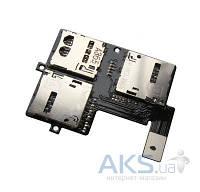 Шлейф для HTC Desire 600 Dual Sim с коннектором SIM-карты и карты памяти Original