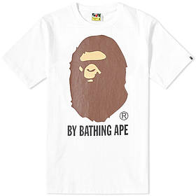 Футболка с принтом BAPE By A Bathing Ape logo мужская | Белая