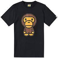 Футболка с принтом A BATHING APE Monkey мужская