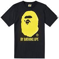 Футболка с принтом A BATHING APE Original мужская черная с желтым принтом b185eaba11f57