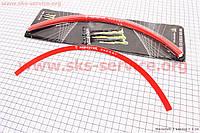 Наклейка светоотражающая красная на 2 диска колеса 17  на мопед Актив