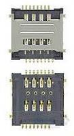 (Коннектор) Разъем SIM-карты Lenovo A520/A580/A690/A780/A800/S720
