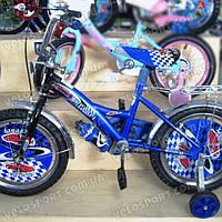 Детский велосипед Mustang Феррари 16 дюймов цвет синий