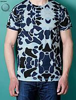Мужская футболка (с принтом) Staff - Blue Camo Art. BRT0022-2 (тёмно-синий \ голубой)